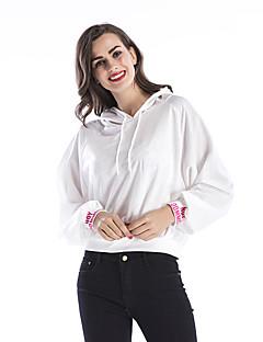 tanie Damskie bluzy z kapturem-Damskie Bawełna Bluza z Kapturem - 3D Print