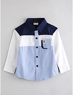 tanie Odzież dla chłopców-Koszula Bawełna Dla chłopców Naszywka Jesień Długi rękaw Niebieski