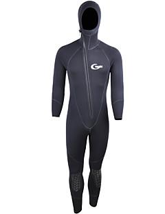 Herre 5mm Våtdrakter Anatomisk design Seiling varmelagrende Dykkerdrakt Langermet Dykkerdrakter-Fisking Dykking Surfing Vannsport Stuping