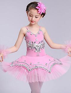 meillä baletti mekkoja lasten suorituskyvyn spandex hihaton korkeat mekot