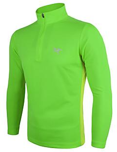 billiga Träning-, jogging- och yogakläder-Herr T-shirt för jogging - Grå, Forest Grön, Vinröd sporter Mode T-shirt Långärmad Sportkläder Lättvikt, Snabb tork, Mateial som andas