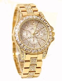 billige Modeure-Dame Diamantbelagt ur Quartz 30 m Hot Salg Rustfrit stål Bånd Analog Vedhæng Afslappet Mode Sølv / Guld / Rose Guld - Guld Sølv Rose Guld