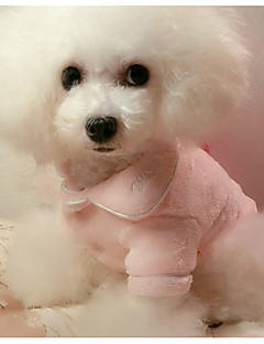 billiga Hundkläder-Hund Pyjamas Hundkläder Ledigt/vardag Solid Purpur Fuchsia Röd Blå Rosa