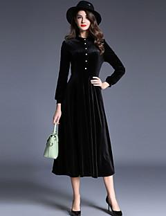 tanie SS 18 Trends-Damskie Wzornictwo chińskie Linia A Pochwa Sukienka swingowa Sukienka - Jendolity kolor Stójka