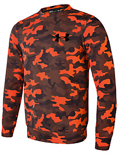 Heren Hardloopshirt Lange mouw Sneldrogend Zweetafvoerend Ademend Lichtgewicht Rekbaar T-shirt voor Hardlopen Informeel Training&Fitness