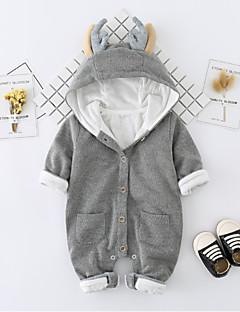 お買い得  赤ちゃんウェア-赤ちゃん 純色 コットン ワンピース 秋 冬 長袖