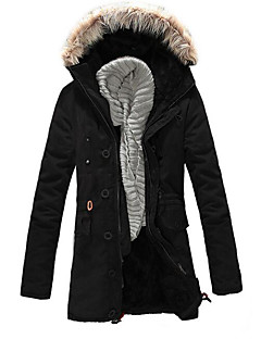 Men's Padded Coat,Casual Daily Solid-Others Polyester Cotton Long Sleeves