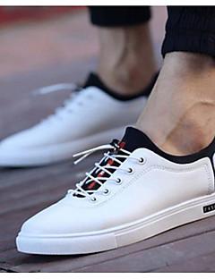 hesapli -Erkek Ayakkabı PU Bahar Yaz Rahat Spor Ayakkabısı Günlük için Beyaz Siyah
