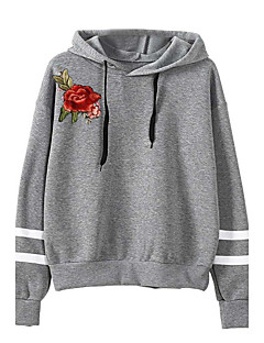 Women's Daily Holiday Hoodie Print Hooded Inelastic Polyester Winter Fall