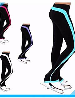 Über die Schlittschuhe reichende Strumpfhosen fürs Eiskunstlaufen Damen Mädchen Eislaufen Hosen/Regenhose Trainingsanzug Weiß Purpur