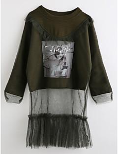 cheap Girls' Tops-Girls' Cartoon Blouse, Cotton Fall Long Sleeves Brown