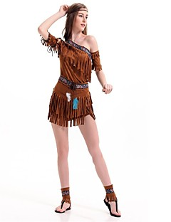 billige Halloweenkostymer-amerikansk indianer Cosplay Kostumer Maskerade Dame Jul Halloween Karneval Oktoberfest Nytt År Barnas Dag Festival / høytid