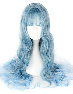 cheap Cosplay & Costumes-Sweet Lolita Dress Blue Lolita Wig 26 inch Cosplay Wigs Wig Halloween Wigs