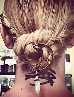 billige Trendy hårsmykker-Dame Fritid Elegant Akryl Hårklemme Edelsten og krystall Legering