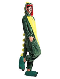 billige Kigurumi-Kigurumi-pysjamas Dinosaur Onesie-pysjamas Korallfleece Grønn Cosplay Til Unisex Pysjamas med dyremotiv Tegnefilm Festival / høytid kostymer