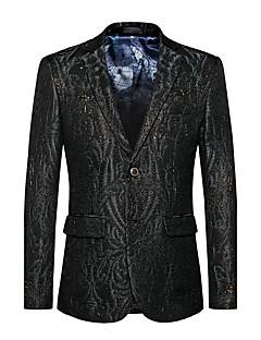 Erkek Pamuklu Polyester Uzun Kol Çentik Yaka Sonbahar Kış Solid Basit Actif Seksi Dışarı Çıkma Günlük/Sade Normal-Erkek Blazer