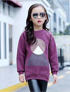 Girls' Solid Blouse,Cotton Fall Long Sleeve Purple