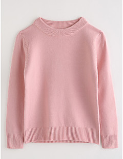 Girls' Solid Blouse,Cotton Fall Long Sleeve Blushing Pink