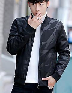 コート メンズ,カジュアル/普段着 チェック ポリエステル シンプル 長袖