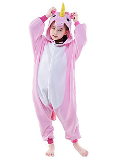 Kigurumi Pajamas Flying Horse Unicorn Onesie Costume Polar Fleece Pink White Blue Cosplay For Kids Animal