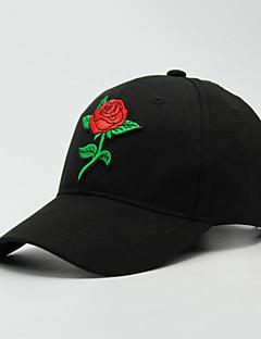 billige Hatter til damer-Dame Baseballcaps - Broderi, Ensfarget Polyester