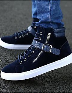 Masculino sapatos Tecido Primavera Outono Conforto Tênis Para Casual Preto Azul