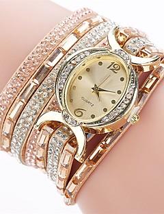 cheap Bracelet Watches-Women's Bracelet Watch Simulated Diamond Watch Wrap Bracelet Watch Quartz Wrap Quilted PU Leather Black / Blue / Red Imitation Diamond Analog Ladies Charm Casual Fashion Elegant - Blue Pink Light Blue