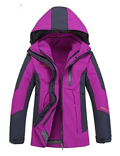Women's Hiking 3-in-1 Jackets Outdoor Winter Windproof 3-in-1 Jacket Winter Jacket Top Full Length Visible Zipper Camping / Hiking