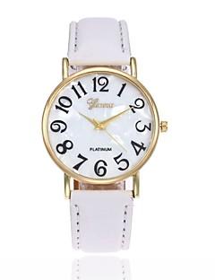 Homens Mulheres Relógio de Moda Relógio de Pulso Quartzo Couro Banda Preta Branco Azul Vermelho Marrom Rosa Roxa Amarelo Cáqui Rose