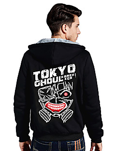 Inspired by Tokyo Ghoul Ken Kaneki Anime Cosplay Costumes Cosplay Hoodies Print Long Sleeves Top For Unisex