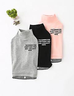 billiga Hundkläder-Hund Tröja Hundkläder Enfärgad Svart / Grå / Rosa Ner / Cotton Kostym För husdjur Ledigt / vardag