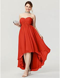 504c1577ebbd Γραμμή Α Καρδιά Ασύμμετρο Σιφόν Κοντό Μπροστά Μακρύ Πίσω Χοροεσπερίδα Φόρεμα  με Χάντρες   Πιασίματα με TS Couture®