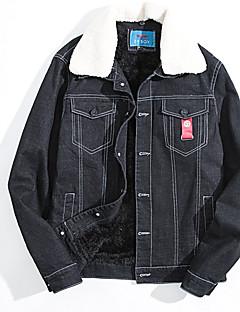 コート レギュラー パーカー メンズ,お出かけ カジュアル/普段着 ストライプ カラーブロック ウール コットン シンプル セクシー アジアン・エスニック 長袖