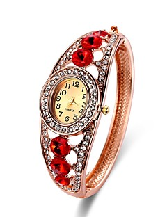 baratos -Mulheres Bracele Relógio Relógio de Pulso Único Criativo relógio Chinês Quartzo Cronógrafo Lega Banda Casual Rígida Elegant Natal Dourada
