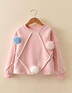 Mädchen Bluse Solide Baumwolle Herbst Winter Langarm Standard