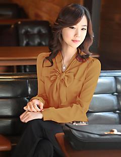Kadın İnce Diğer Uzun Kollu V Yaka Tüm Mevsimler Solid sofistike Çalışma-Kadın Gömlek