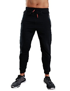 baratos -Homens Calças de Corrida Calças Correr Exercício e Atividade Física Algodão Terylene Preto Cinzento S M L XL XXL