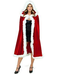 billige julen Kostymer-Ferie Mrs.Claus julenissen Kappe Dame Jul Festival / høytid Halloween-kostymer Rød Ensfarget