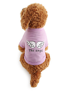 baratos -Cachorro Camiseta Roupas para Cães Respirável Carta e Número Ocasiões Especiais Para animais de estimação