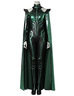 billige -Superhelter Hela Cosplay Kostumer Kostume Film-Cosplay Grå & Svart Trikot/Heldraktskostymer Kappe Støvler Halloween Karneval Maskerade