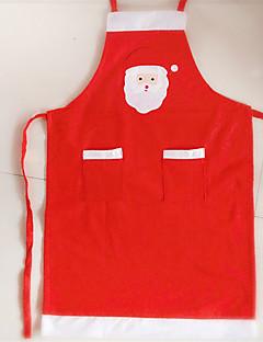 billige julen Kostymer-julenissen Julkjole Herre / Dame Jul Festival / høytid Halloween-kostymer Rød Ensfarget