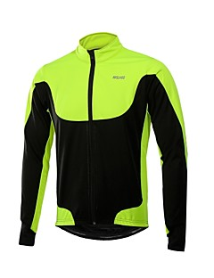 Arsuxeo サイクリングジャケット バイク 冬物ジャケット 男性用 防風 ポリエステル TPU 秋 冬 ブラック レッド グリーン ブルー