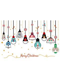 アートデコ クリスマス ウインドウステッカー,ポリ塩化ビニール 材料 窓の飾り