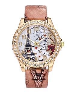 女性用 ドレスウォッチ リストウォッチ ダミー ダイアモンド 腕時計 中国 クォーツ 模造ダイヤモンド PU バンド ぜいたく 花型 ヴィンテージ カジュアル ボヘミアンスタイル ブラック 白 ブルー レッド ブラウン グレー 赤紫