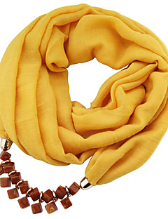 Women's Polyester Infinity Scarf Solid All Seasons