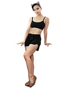 ラテンダンス トップス 女性用 ダンスパフォーマンス コットン ノースリーブ トップス