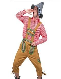 Klassiek en Tradtioneel Lolita Klassiek & Tijdloos Mannelijk Cosplay Kostuums Gemaskerd Bal Outfits Cosplay Rood Lange mouw
