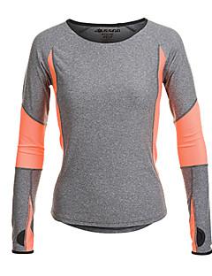 billige Løbetøj-Jaggad Dame Løbe-T-shirt Langærmet Hurtigtørrende, Fugtpermeabilitet, Åndbart T-Shirt / Toppe for Yoga / Pilates / Træning & Fitness