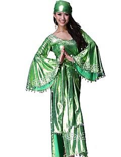 Etnisk/Spirituell Drakter Kvinnelig Halloween Jul Festival / høytid Halloween-kostymer Rød Grønn