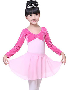 cheap Latin Dance Wear-Ballet Bottoms Children's Performance Chiffon High Skirts